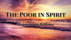 Poor-in-Spirit